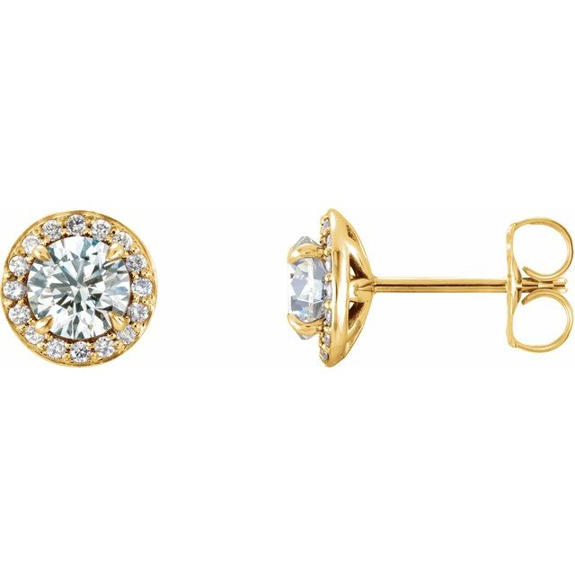 Diamond Earrings - Halo-Style Earrings