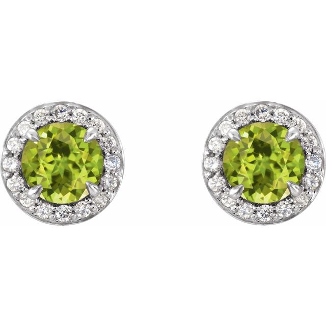 Gemstone Earrings - Genuine Peridot Earrings - image #2