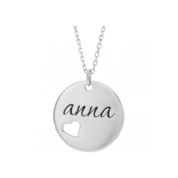 Necklaces - 14K White Gold Necklace - image #2