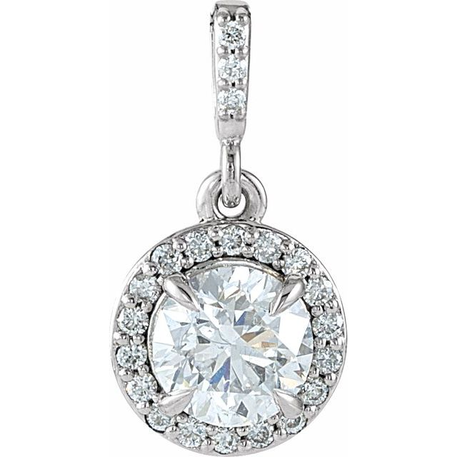Diamond Pendants - Halo-Style Pendant