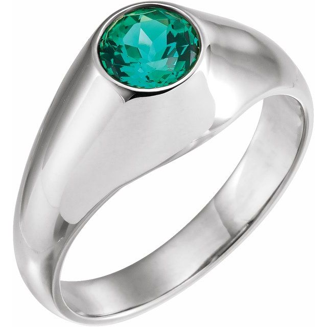 Gemstone rings - Men's Bezel-Set Ring