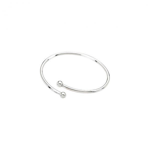 Diamond Bracelets - Kera® Sterling Silver Bangle Bracelet