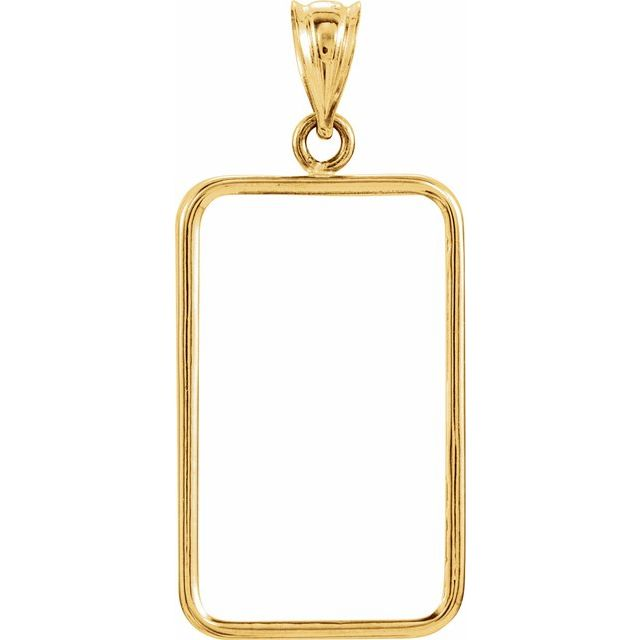 23.5x14x1 mm Tab Back Credit Suisse Frame Pendant by Stuller