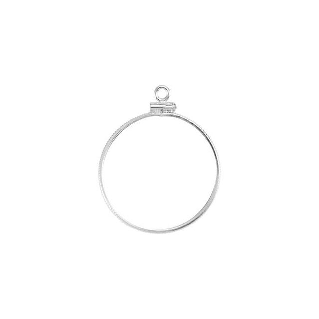 26.4x1.7 mm Screw-Top Coin Edge Coin Frame Dangle by Stuller