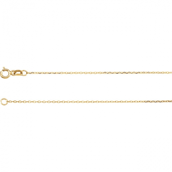 Necklaces - .80mm Diamond-Cut Cable Chain  - image #2