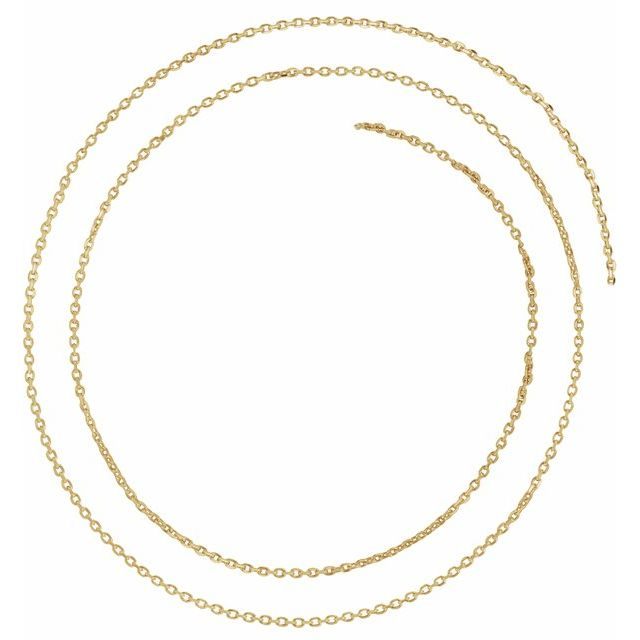 Necklaces - 1.4mm Diamond Cut Cable Chain