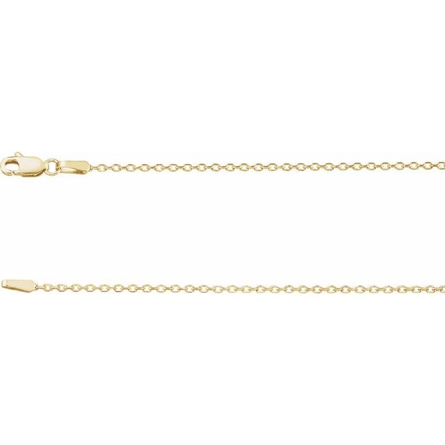 Necklaces - 1.4 mm Diamond Cut Cable Chain  - image #2
