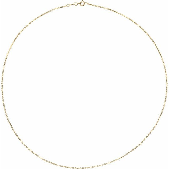 Necklaces - 1 mm Solid Diamond-Cut Cable Chain  - image #2