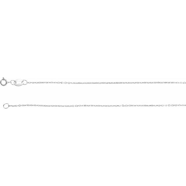 Bracelets - 1mm Solid Diamond Cut Cable Chain