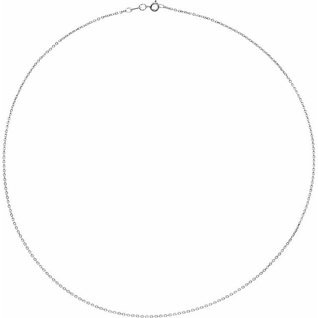 Necklaces - 1mm Solid Diamond Cut Cable Chain  - image 2
