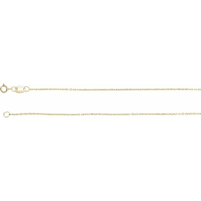 Necklaces - 1mm Solid Diamond Cut Cable Chain
