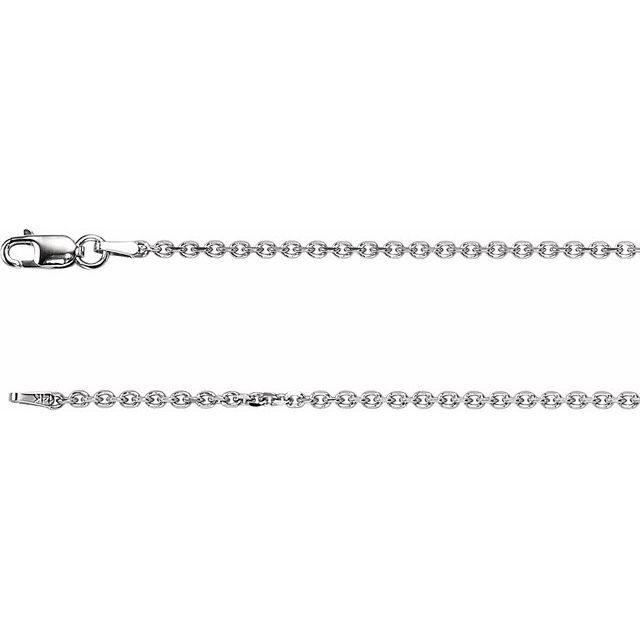Necklaces - 1.75 mm Solid Cable Diamond Cut Chain