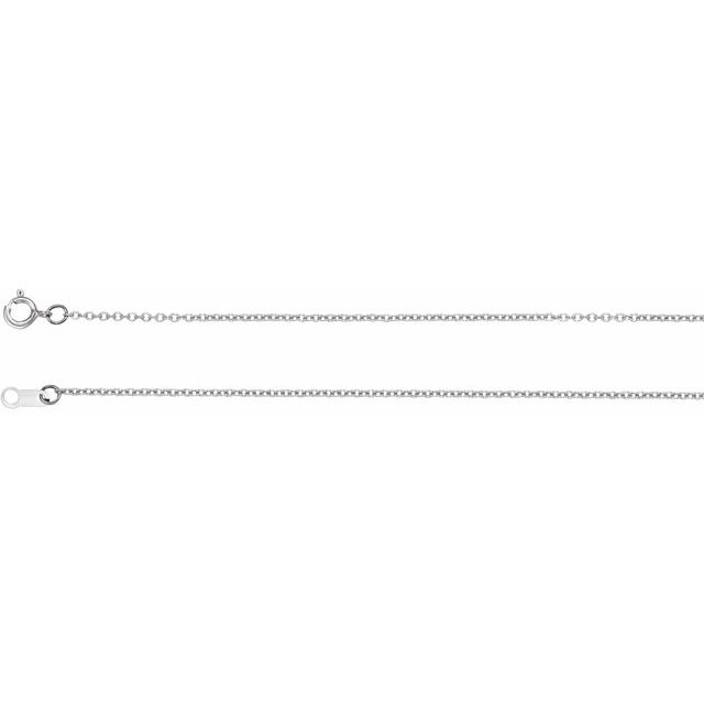 Necklaces - 18K White Gold Chain Necklace