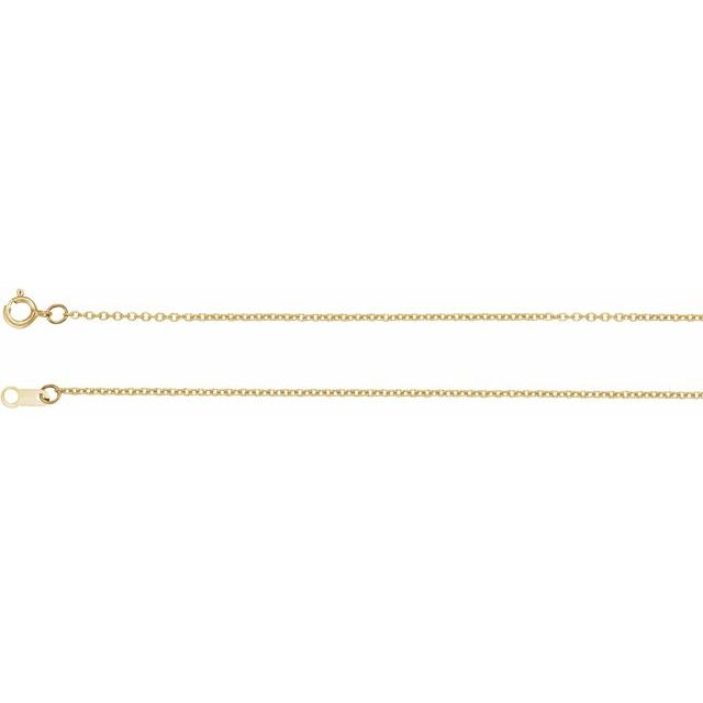 Necklaces - 1mm Solid Cable Chain