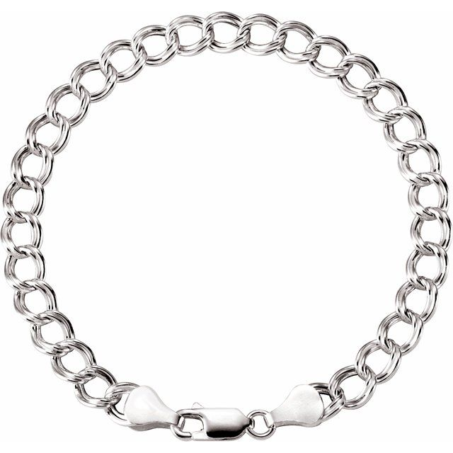 Diamond Bracelets - Hollow Curb Charm Bracelet