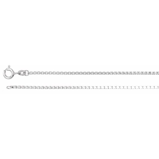 1.5mm Sterling Silver Box Diamond Cut Box Chain  by Stuller