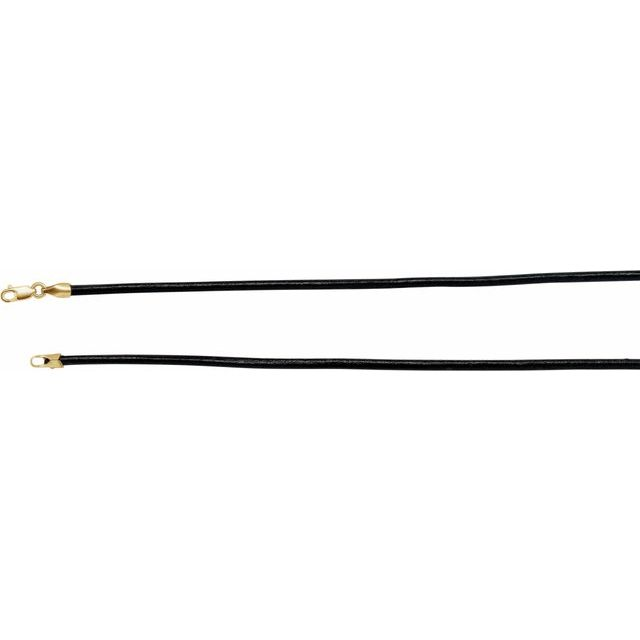 Necklaces - 2mm Black Leather Cord
