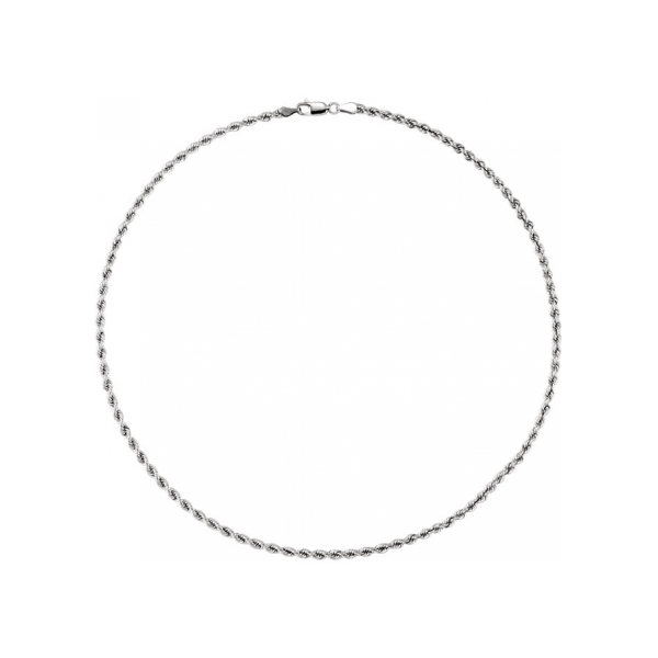 Necklaces - 14K White Gold Chain Necklace - image #2
