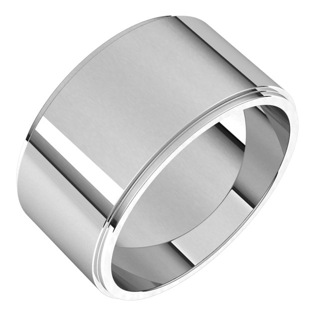 Ladies Wedding Bands - 10mm Wedding Band