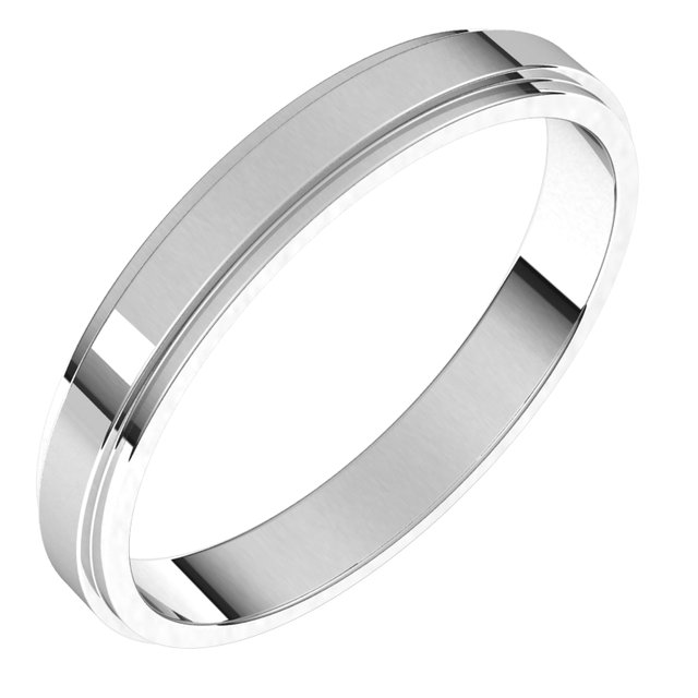 Diamond Fashion Rings - Flat Edge Bands