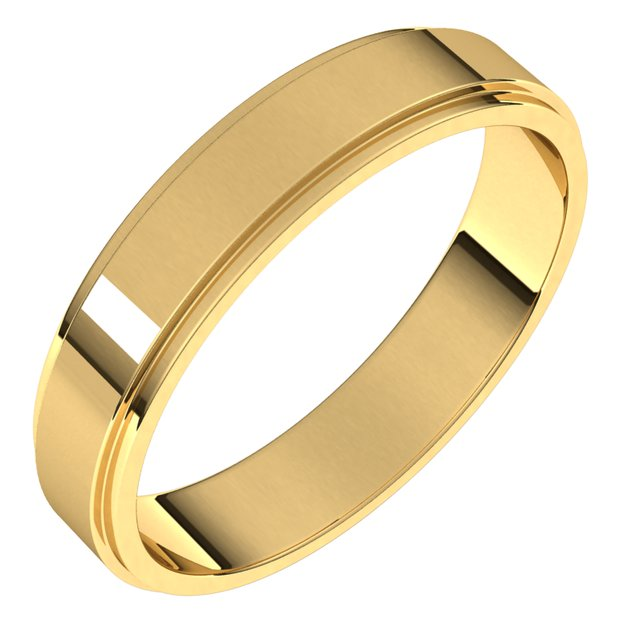 Anniversary Bands - Flat Edge Bands