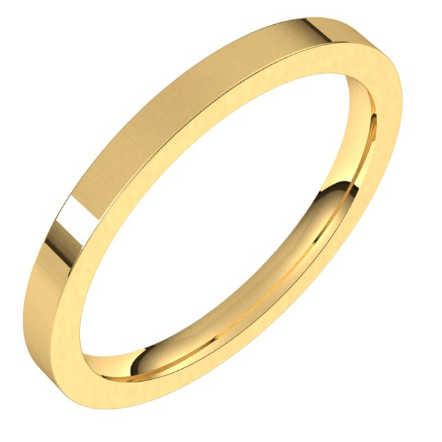 Men's Wedding Bands - 2mm Wedding Band