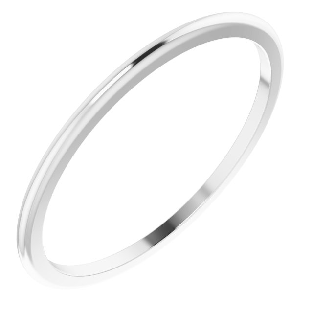 Ladies Wedding Bands - 1mm Wedding Band - image #2