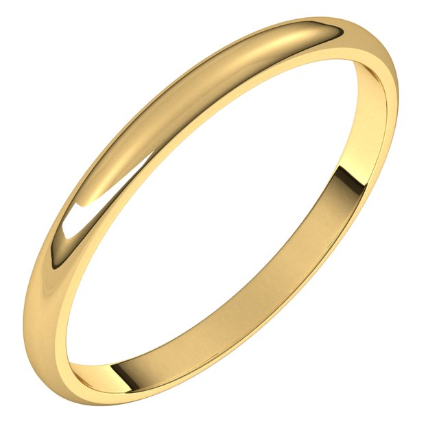 Ladies Wedding Bands - 2mm Wedding Band