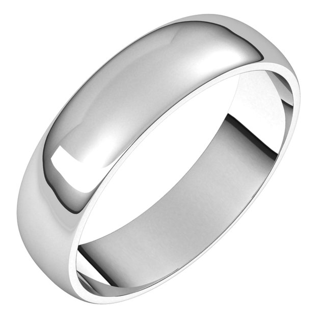 Anniversary Bands - Half Round Light Bands
