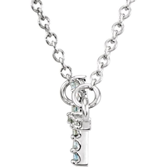 Diamond Necklaces - Sideways Cross Necklace - image 2
