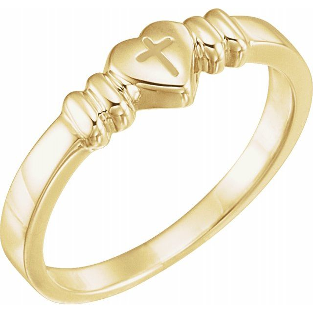 Heart with Cross Chastity Ring by Shop Online