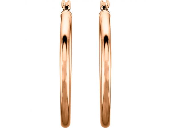 Earrings - 14K Rose Gold Earrings - image #2