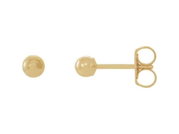 Ball Earrings with Bright Finish - 14K Yellow 5 mm Ball Earrings