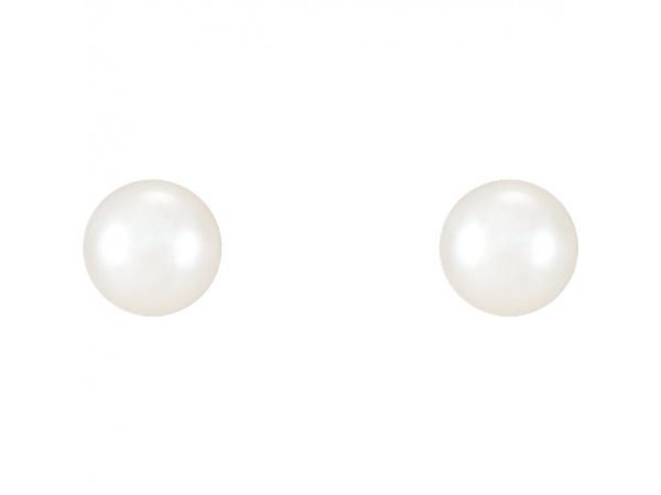 Gemstone Earrings - Pearl Earrings - image #2