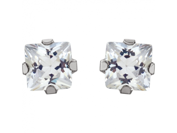 Gemstone Earrings - Cubic Zirconia Inverness® Piercing Earrings - image 2