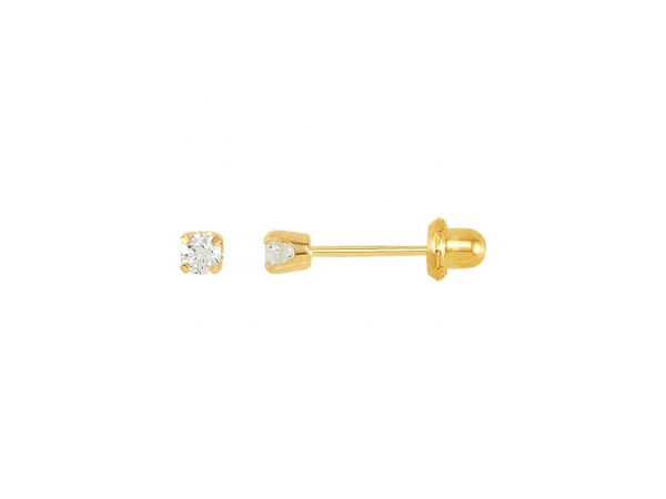 Polished 14K Yellow Gold Gemstone Earrings