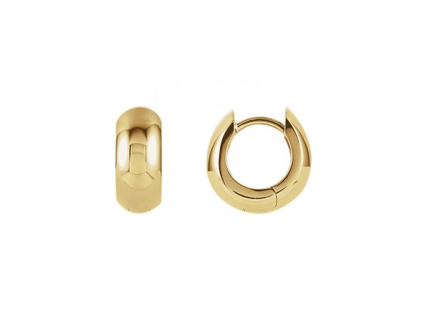 Polished 14K Yellow Gold Earrings