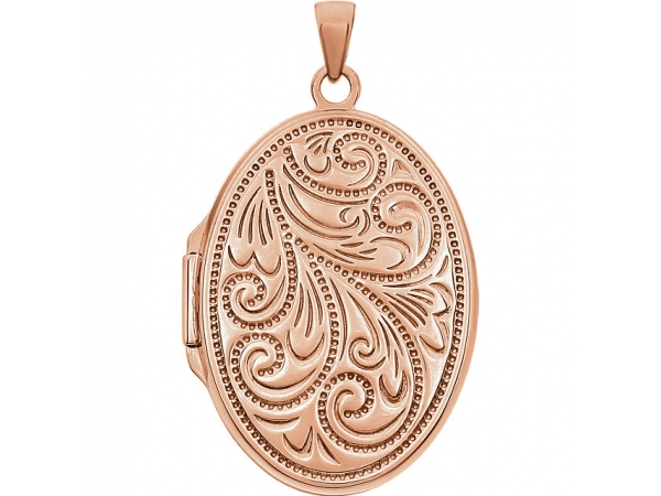 Oval Locket  - 14K Rose Gold-Plated Sterling Silver Oval Locket