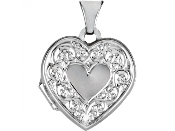 Heart Locket  - Sterling Silver Heart Shaped Locket