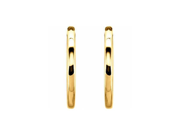 Earrings - 14K Yellow Gold Earrings - image 2