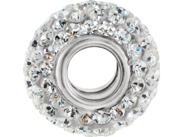 Beads - Kera® Roundel Bead with Crystals - image #2