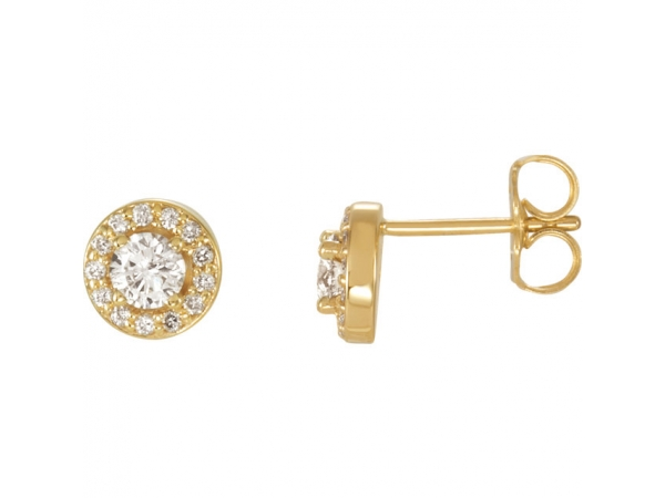 Halo-Style Earrings - 14K Yellow 3/8 CTW Diamond Halo-Style Earrings