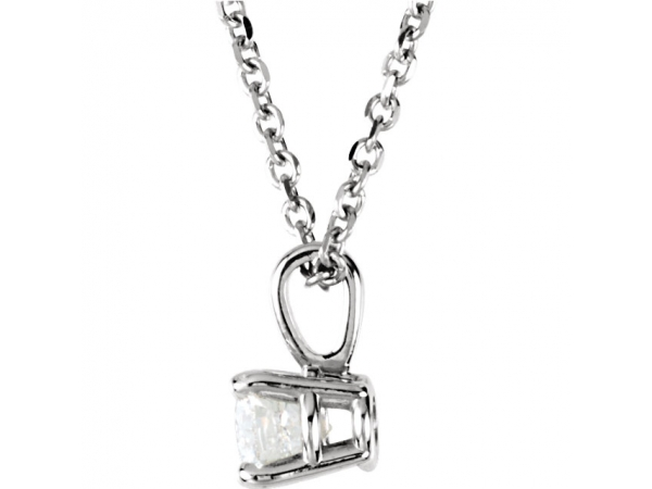 Diamond Pendants - Diamond Necklace - image #2