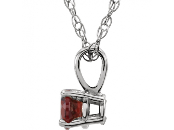 Gemstone Necklaces - Youth Solitaire Birthstone  Necklace  - image 2