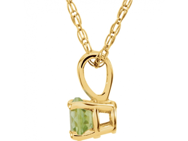 Gemstone Necklaces - Youth Solitaire Birthstone  Necklace  - image #2