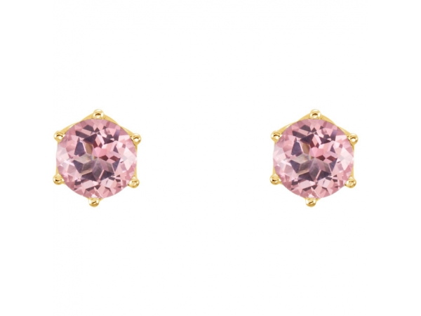 Gemstone Earrings - Round 6-Prong Woven Earrings  - image #2