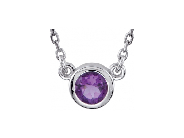 Genuine Amethyst Necklace by Stuller