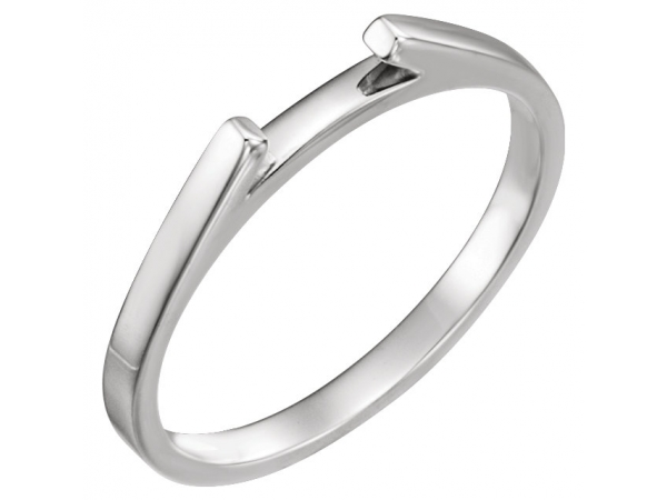 14K White Gold Band by Stuller