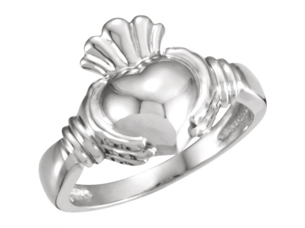 Claddagh Ring - Sterling Silver Men's Claddagh Ring