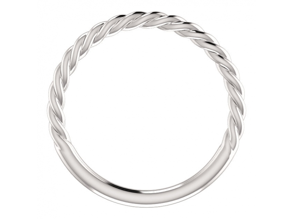 Diamond Fashion Rings - Twisted Rope Band - image #2